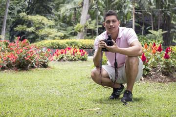 joven fotografo