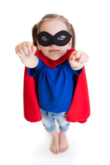 superhero girl child dreams about flying