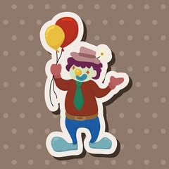 clowns theme elements vector,eps