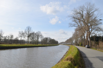 river in countryside, Belgium