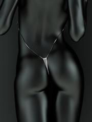 Black and white metallic body art
