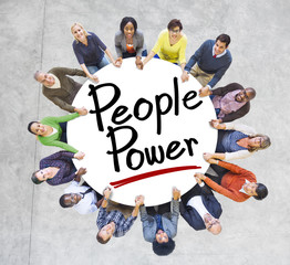 Group People Holding Hands Around People Concept