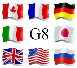 Country flags of G8