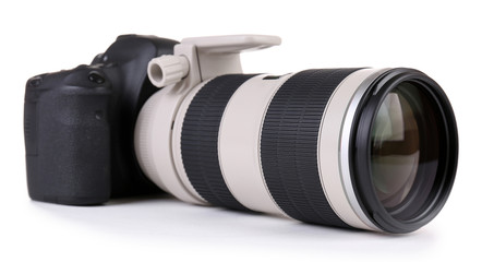 digital photo camera isolated on white