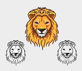 Lion head mascot. Good use for logo, symbol, icon, mascot.