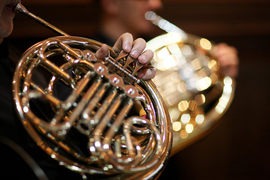 Playing the French horn