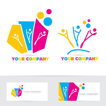 People party colored logo