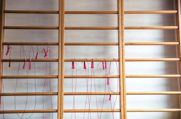 Jumping ropes on wall bars