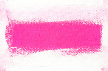 art painted border on pink  background