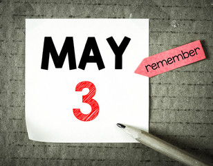 Note with 3 may