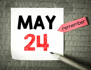 Note with 24 may