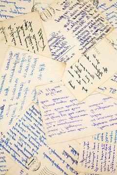 old vintage letters