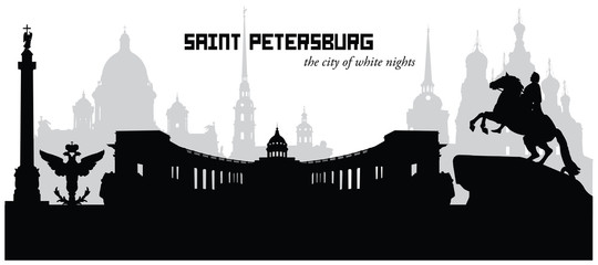 Vector illustration of Saint Petersburg Russia