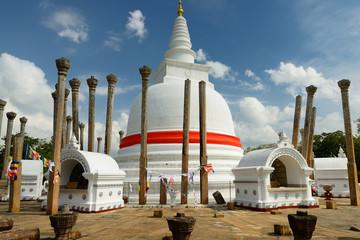 Poster Monument Anuradhapura ruin, Thuparamaya dagoba, Sri Lanka