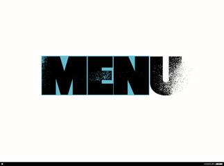 Typographic restaurant vector menu design.
