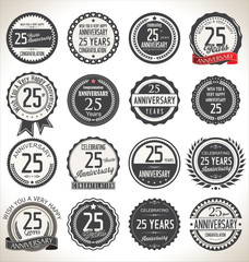 Printed roller blinds Retro Anniversary label collection, 25 years