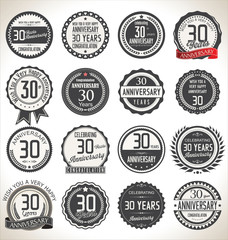 Printed roller blinds Retro Anniversary label collection, 30 years