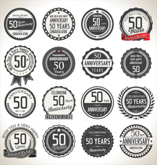 Printed roller blinds Retro Anniversary label collection, 50 years