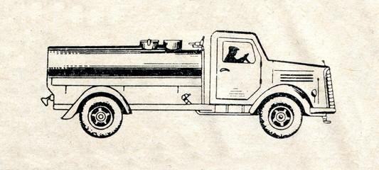 Street watering truck