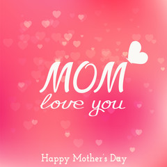 Happy mother day card.