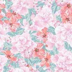 Seamless romantic pattern.