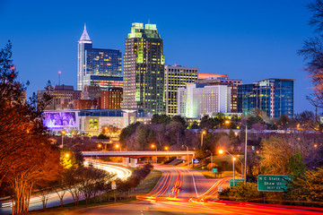 Raleigh, North Carolina Skyline