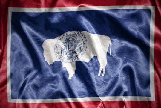 shining wyoming state flag