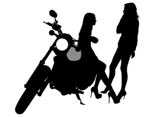 Wall Mural - Biker baeuty girls