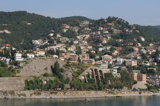Mediterranean coast. Albissola-Marina, Savona, Italy
