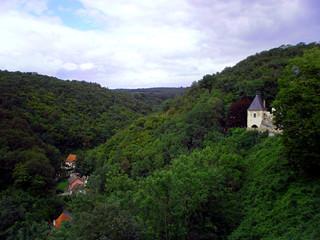 view from castle Karlštejn