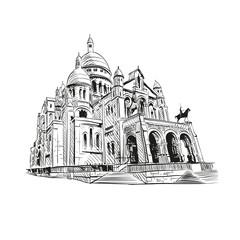 Sacre Coeur Cathedral on Montmartre , Paris, France