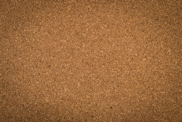 Close up brown cork board texture