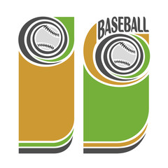 The background image on the theme of baseball
