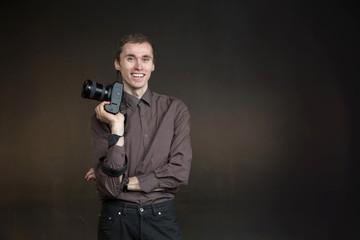photographer portrait in studio
