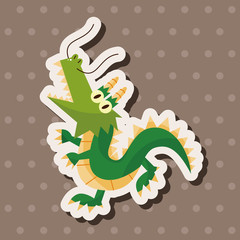 animal dragon cartoon theme elements