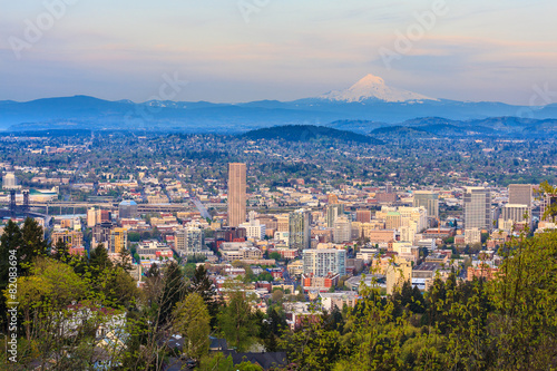 Fototapete Beautiful Vista of Portland, Oregon