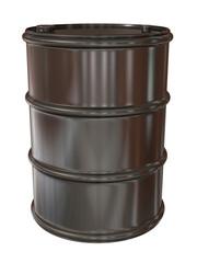 Grey metal barrel
