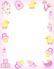 Baby girl accessories frame