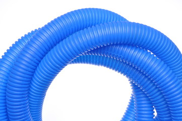Blue corrugated pipe for electrical cables