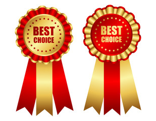 Best choice award ribbon