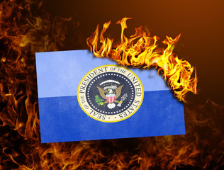 Flag burning - Presidential seal
