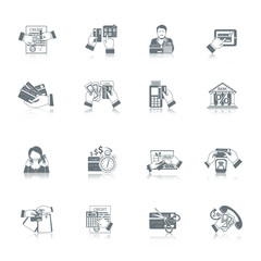 Credit Life Icon Set