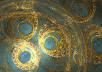 Fantasy steampunk background, mechanical clockwork design