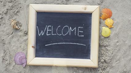 Welcome written