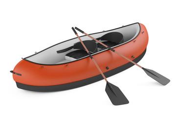 Inflatable kayak canoe isolated