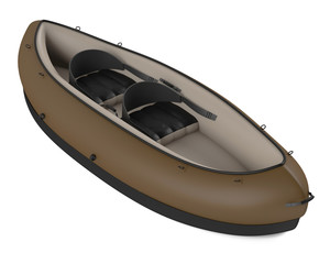 Inflatable kayak canoe isolated