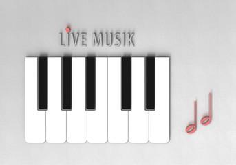 Live Musik - Tastatur - Typo