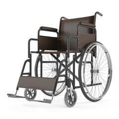 Wheelchair front isolated