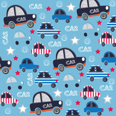 childish pattern with cars  vector illustration