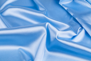 Blue silk drapery